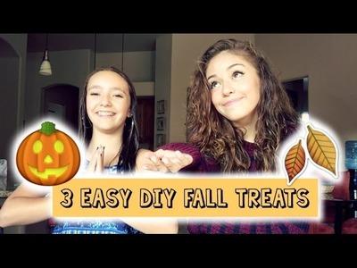 3 Easy DIY Fall Treats