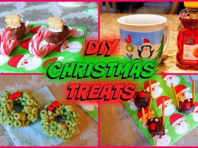 4 Easy DIY Christmas Party Treats! | ft. SeasonBeauty97