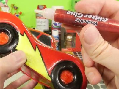 Cars 2 Giant Lightning McQueen Custom Disney Vinylmation DIY How To Paint Toys DCTC Videos