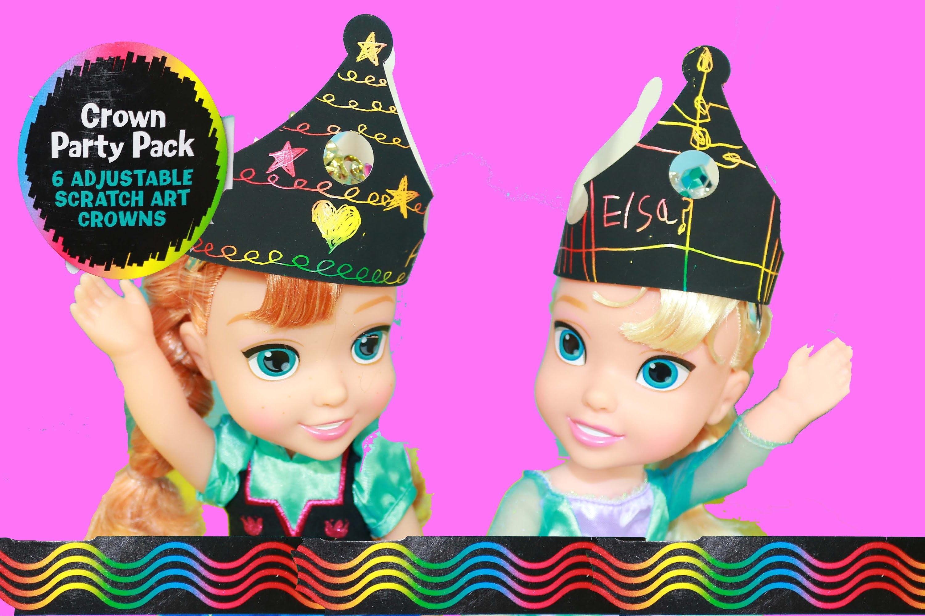 Disney Princess Frozen Baby Dolls DIY Crowns for Birthday Party Presents Fun Disney Princesses