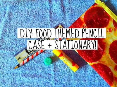 DIY BACK TO SCHOOL: FOOD THEMED PENCIL CASE + STATIONARY | OREO ERASER, CANDY CANE PENCIL AND MORE!