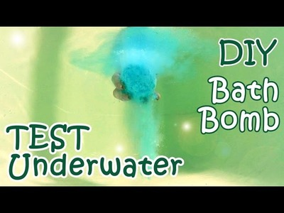 DIY Bath Bomb With Underwater Test - How To Make A Bath Bomb At Home