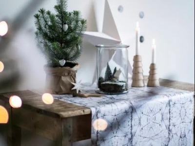 DIY: Christmas decoration in glass bottle by Søstrene Grene