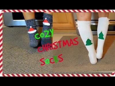 DIY Cozy Christmas Socks ~12 Days of DIY's