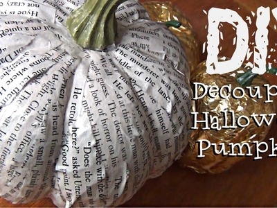 DIY Décor ♥ Decoupage Halloween Pumpkin