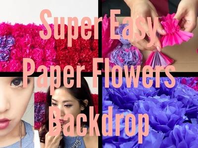 DIY Easy Flowers Dorm Decor. YouTube Backdrop