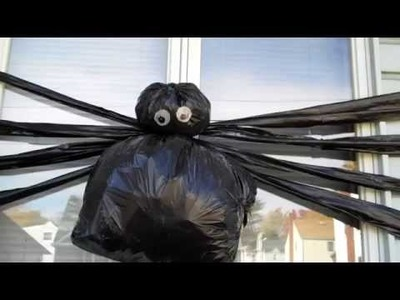 "DIY Halloween Decor  ""Trash Bag Spider!!"""