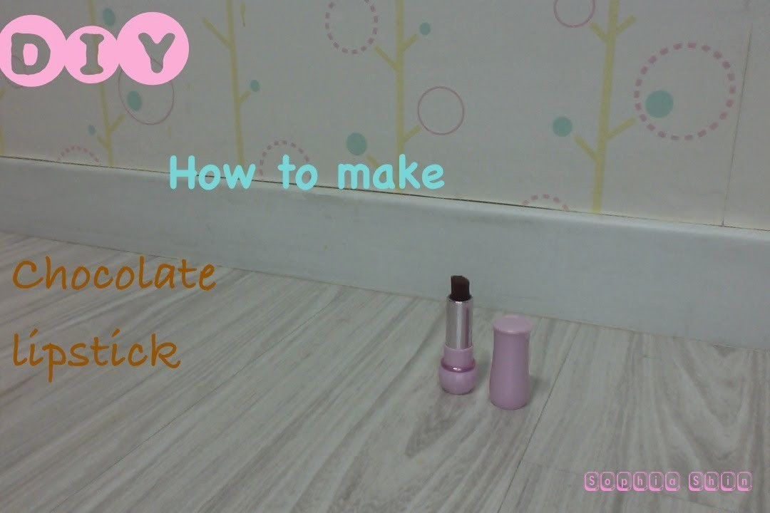 DIY How to Chocolate Lipstick (Recycle Time!+Valetine's Day Special)