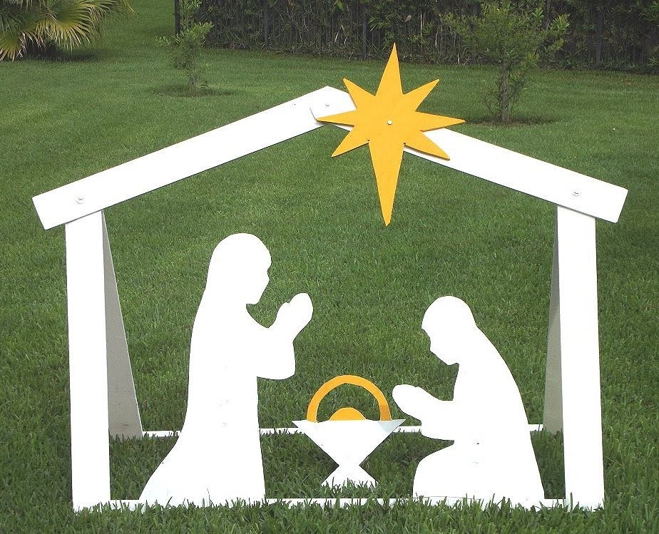 DIY Outdoor Nativity - Building Steps With Templates