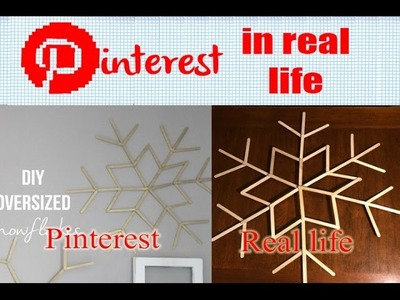 DIY Oversized Snowflake - Pinterest in Real Life