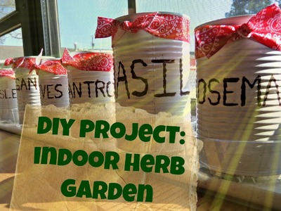 DIY project: Indoor Herb Garden