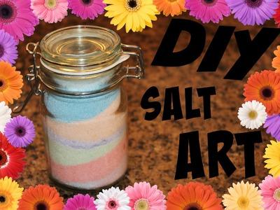 DIY Salt Art With Chalk!
