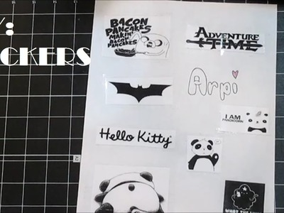 DIY:Stickers(No Sticker Paper)