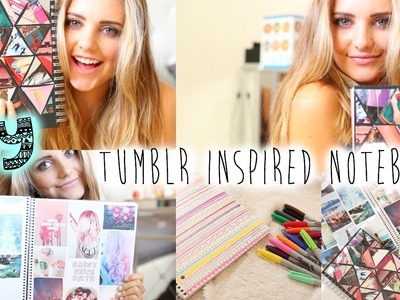DIY: Tumblr Inspired Notebooks For School! | Aspyn Ovard