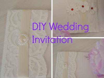 DIY Wedding Invitation - How to decorate