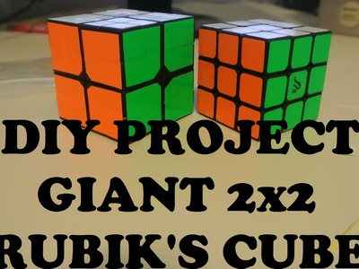 Giant 2x2 Rubik's Cube: DIY Project
