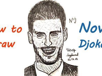 How to draw NOVAK DJOKOVIC Easy Realistic portrait 3D, draw easy stuff but cool 3D, SPEED ART
