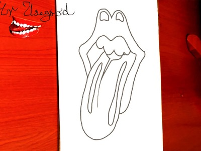 How to draw the ROLLING STONES Logo EASY | draw easy stuff.things but cool, PENCIL | SPEED ART