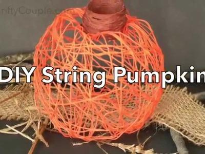 How To Make a DIY String Pumpkin Decor
