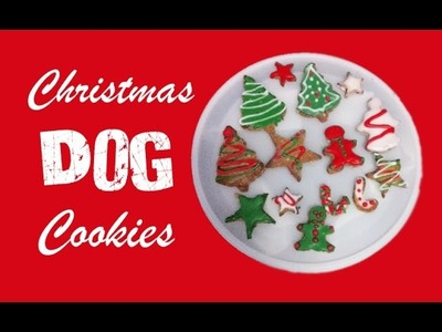 How to make CHRISTMAS DOG COOKIES XMAS FESTIVE FROSTED TREATS - DIY Dog Food by Cooking For Dogs