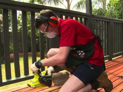 How To Sand A Deck - DIY At Bunnings