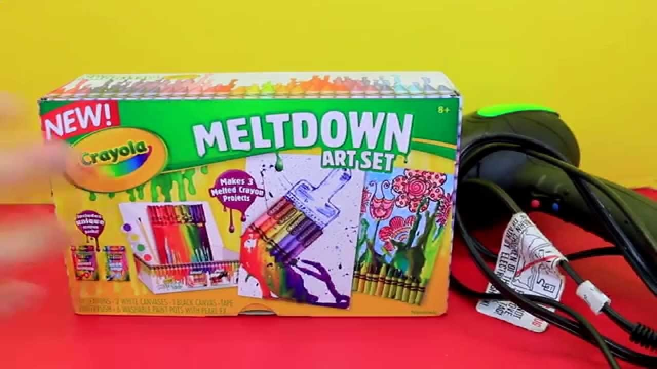 MELTING CRAYONS! ❤ Crayola Meltdown Art Set + Fun Paintings DIY Crafts for Kids
