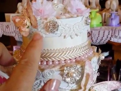 Wedding Guest Book and Altered Wedding Cake Stack DIY DT