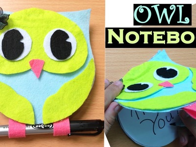 Wonderful DIY Cute Owl Notebook From CD ❤ Easy DIY Notebooks!