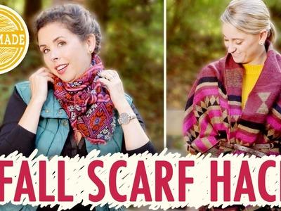 2 Stylish Scarf Styles + DIY Scarf Organizer - HGTV Handmade