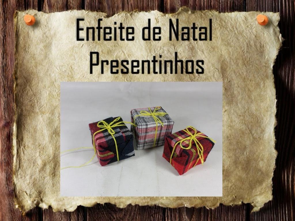 25 - Artesanato e Reciclagem DIY - Enfeites de Natal - Presentinhos -Christmas tree decoration gifts