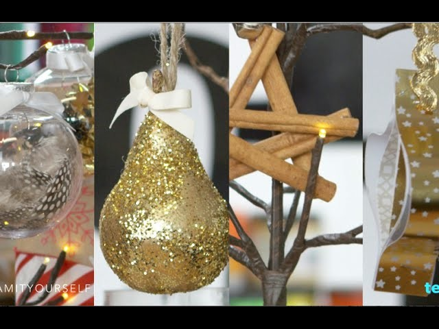 4 Dazzling DIY Christmas Ornaments   Glam it Yourself