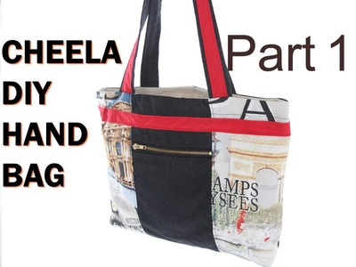 Cheela Version 2a. with zip pouch and lining. DIY Bag Vol 19A