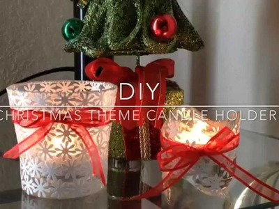DIY candle holder.Christmas theme candle holder for gift.christmas decoration ideas