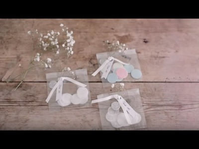 DIY: Confetti decorations and table setting by Søstrene Grene