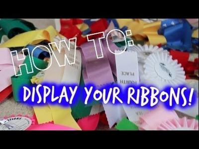 DIY: Cute, Simple Way to Display Ribbons!