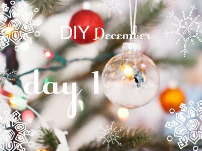 DIY December | DAY 1 | Snow Globe & Ornament #DIYdecwithMarta