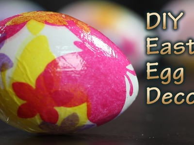 DIY Easter Egg Decoration With Decoupage