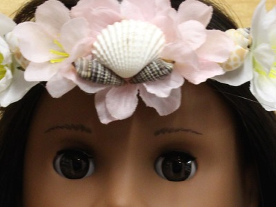 DIY Faux Flower Crown for your American Girl Doll!
