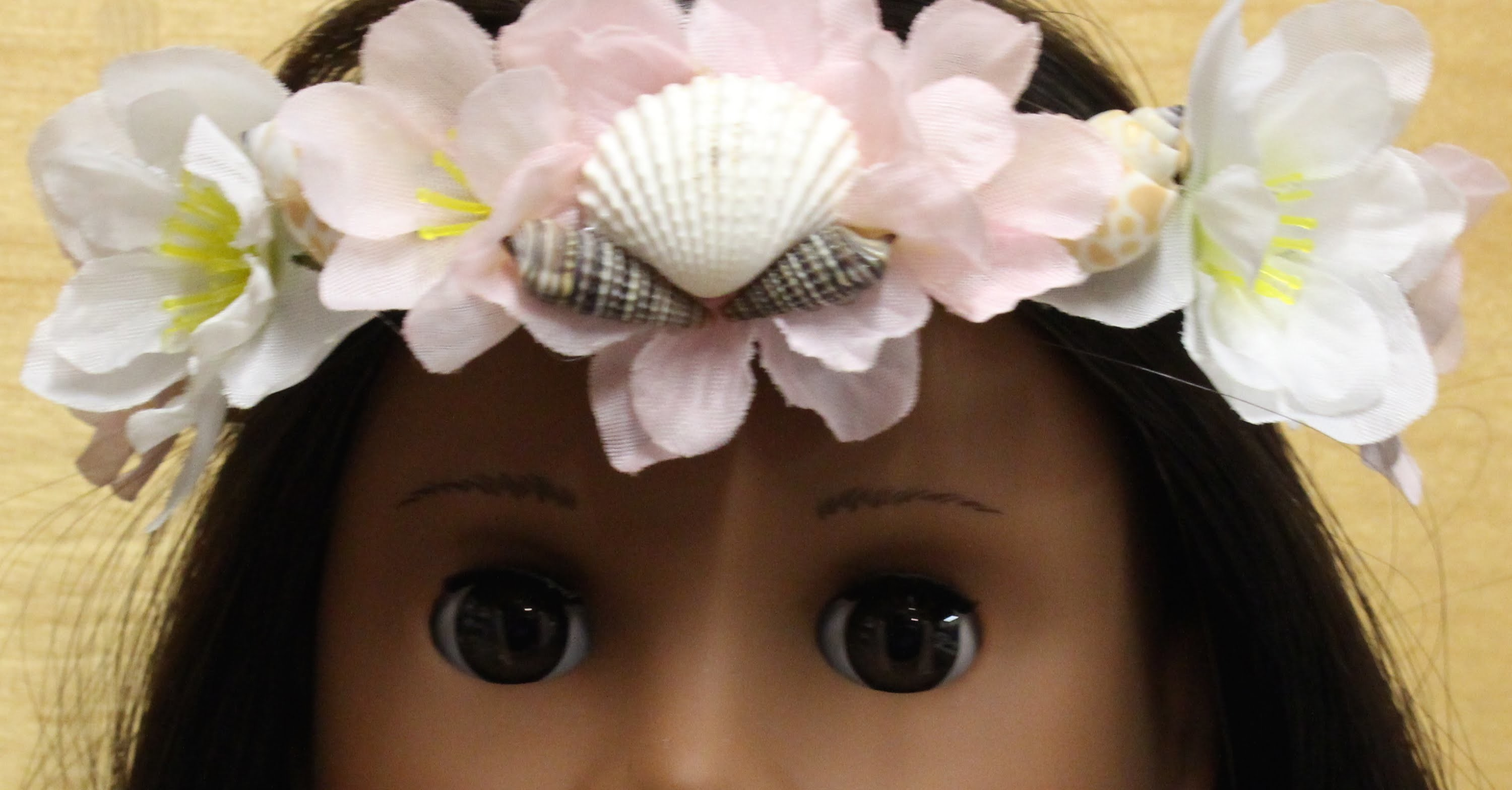 Diy faux flower crown for your american girl doll izmirmasajfo