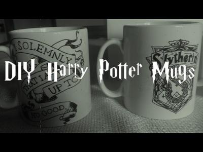 DIY Harry Potter Mugs. Canecas Harry Potter