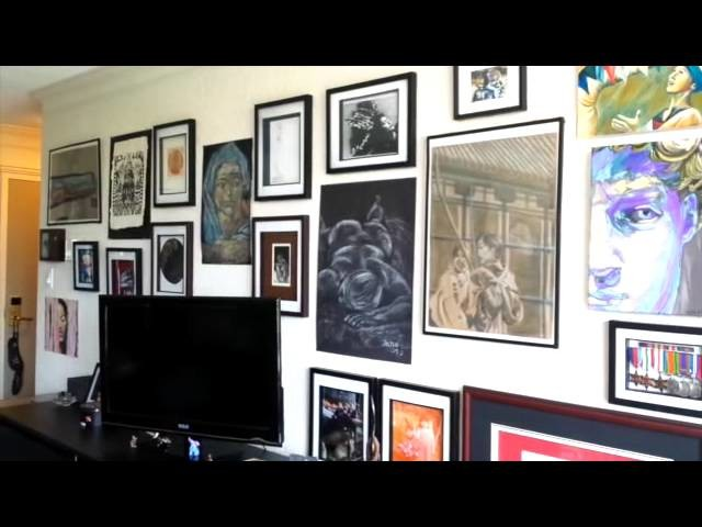 DIY - how to display your artwork and framed embroidery with a gallery wall