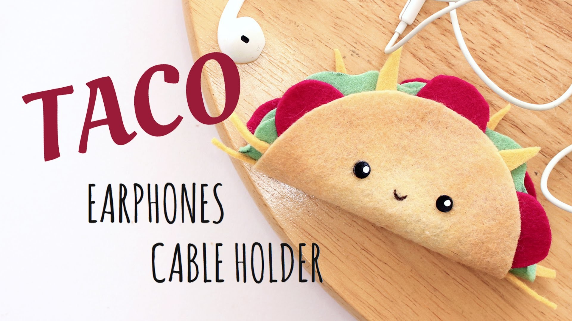 DIY Kawaii Taco - Earphones Cable Holder - No Sewing - 2 Cats & 1 Doll