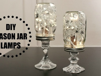 DIY Mason Jar Lamps