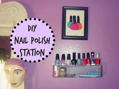 DIY Nail Polish Wall Station