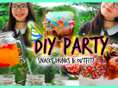 DIY Party! Easy Snacks, Drinks & Outfits | ft.Lifeasnikki