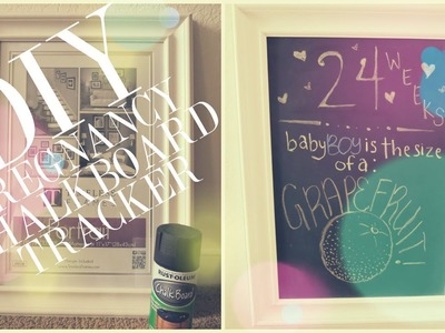DIY Pregnancy Chalkboard Tracker (EASY)