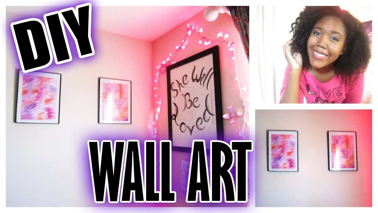 DIY Room Decor: Abstract Watercolor Paintings