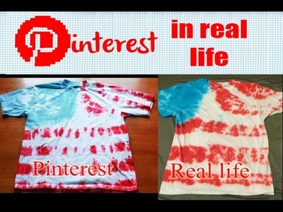 DIY Tie Dye Flag Shirt - Pinterest in Real Life (Fourth of July Party Shirt)