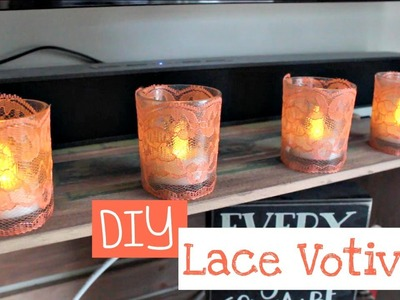 DIY | Tumblr Inspired Lace Candle Holders.Votives