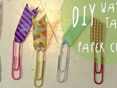 DIY washi tape PAPERCLIPS - Back to school Tutorial by ART Tv